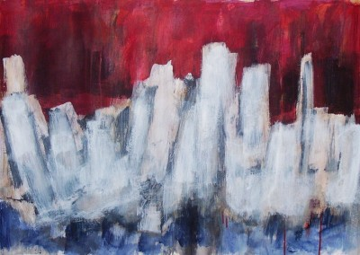 Samarkand, 30-12-06, acryl-pap., 70 x 100 cm