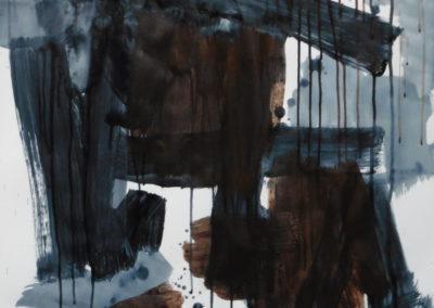 Schaduwbenen, 2018, 99 x 69 cm, acryl papier