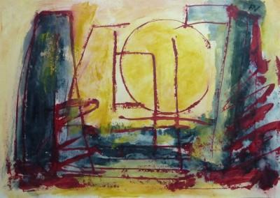Siciliaans, 2012, 70 x 100 cm, acryl-pap.