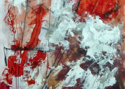 Sjamaan, 2013, acryl-pap., 65 x 50 cm