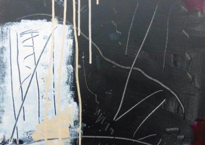 Sporen 2, 2017, 50 x 50 cm, acryl doek