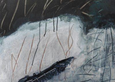 Lyrisch abstract – acryl op doek – 2017