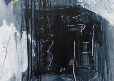 Sporen 4, 2017, 50 x 50 cm, acryl doek