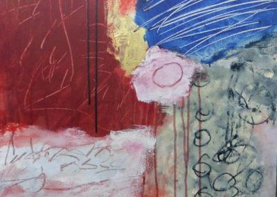 Sterrendouche, 2018, 80 x 60 cm, acryl doek