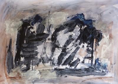 Sumo, 2013, acryl-pap., 70 x 100 cm