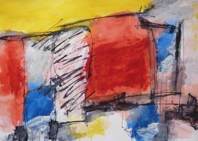 Theosofisch landschap, 2012, 70 x 100 cm, acryl-pap. (verkocht)