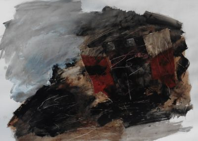 Theseus, 2017, 100 x 70 cm, acryl, coll., papier