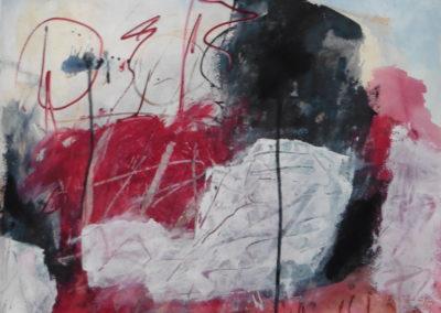 Tijdloze creatuur, 2018, 71,5 x 56 cm, acryl papier