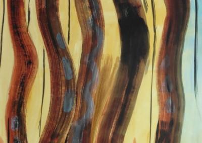 Totems, 24-4-1992, acryl-pap., 100 x 70 cm