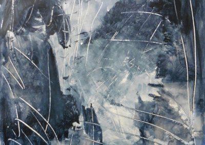 Vergelijking als poezie, 2017, 50 x 65 cm, acryl papier