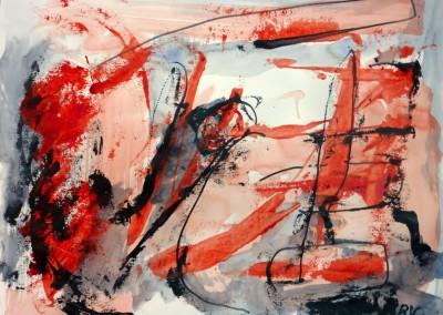 Vleeswording, 2013, acryl-pap., 50 x 65 cm