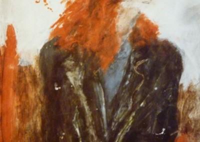Vrouw met rood haar, 1987, 65 x 50 cm, acryl pap. (verkocht)