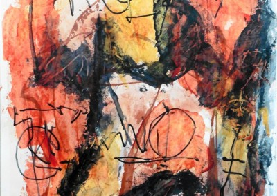 Vrouwenvertrek, 2015, acryl-pap., 65 x 50 cm