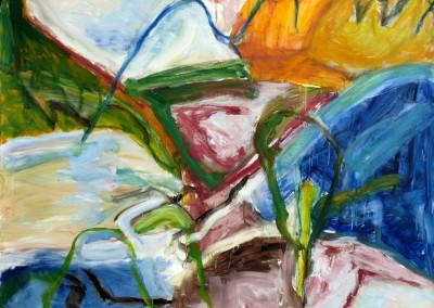 Vue sur dimanche, no. 39, 2009, acryl-doek, 145 x 190 cm