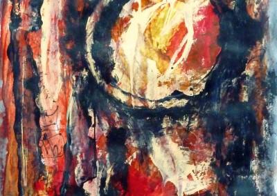 Walpurgisnacht, 2013, acryl-pap., 65 x 50 cm