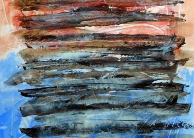 Waterspiegel, 2015, acryl-pap., 65 x 50 cm