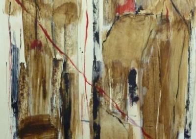 Woud, 12-99, acryl-pap., 65 x 50 cm