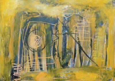 Yellow cosmos, 2019, 50 x 65 cm, acryl papier