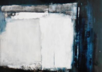 Z.t. 10-3-93, olie-zand -doek, 100 x 100 cm, verk.