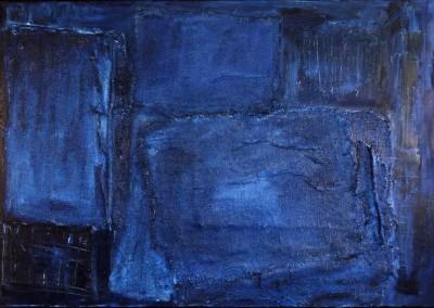 Z.t., 10.93, materie-doek, 100 x 150 cm, verk.