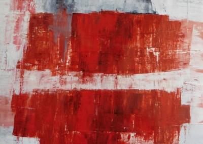 Z.t., 14-10-95, no.319, olie-doek, 90 x 70 cm, niet te koop