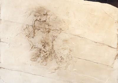 Z.t., 14.7.94, materie-doek, 120 x 100 cm