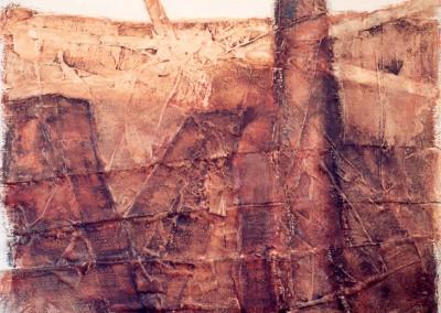 Z.t., 20.5.98, materie-doek, 120 x 100 cm, niet te koop