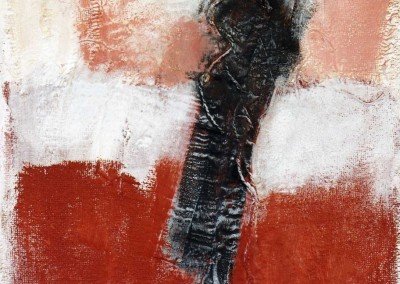 Z.t., 20.7.95, materie-doek, 85 x 65 cm