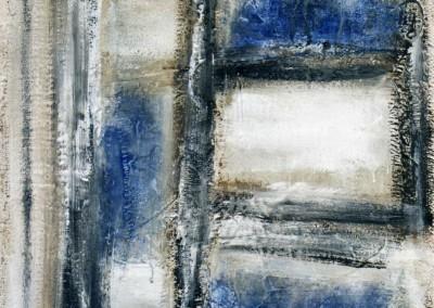 Z.t., 22.7.95, materie-doek, 85 x 65 cm, verk.