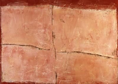 Z.t., 27.6.94, materie-doek, 100 x 120 cm, verk.
