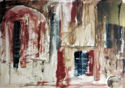 Z.t., 3-12-00, acryl-pap., 70 x 100 cm, verk.