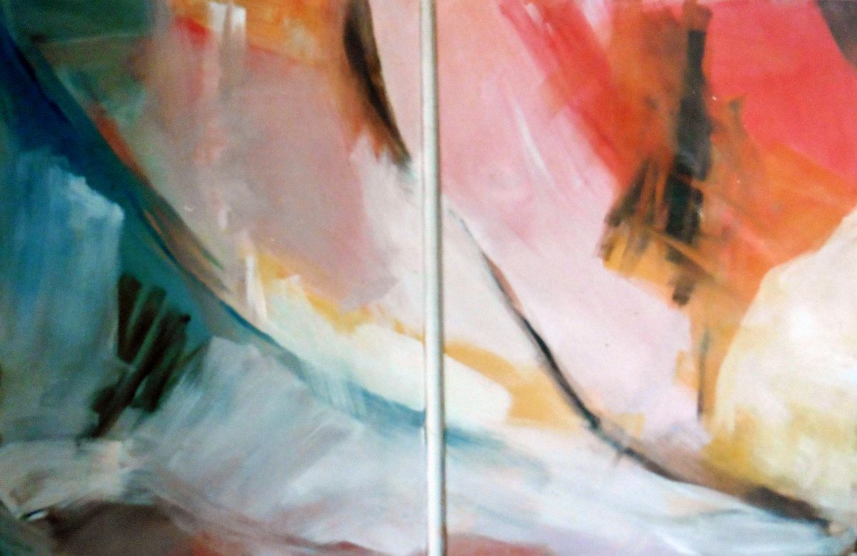 Abstract – olieverf op doek – jaren 80