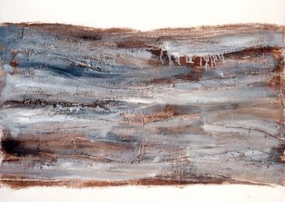 Z.t., 4.2.95, materie-doek, 100 x 120 cm