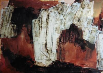Z.t., 6-1-99, acryl-pap., 70 100 cm., verk.