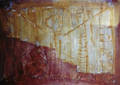 Z.t., 7-8-98, acryl-pap., 70 x 100 cm, verk.