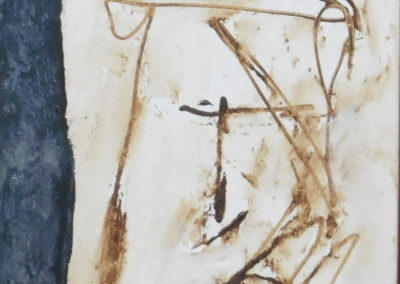 Zelfportret, 2018, 30 x 30 cm, acryl doek