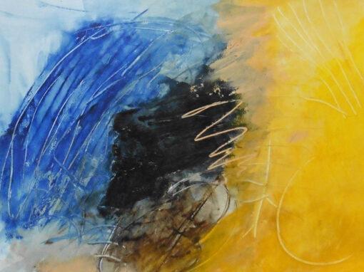 Lyrisch abstract – acryl op papier – 2020