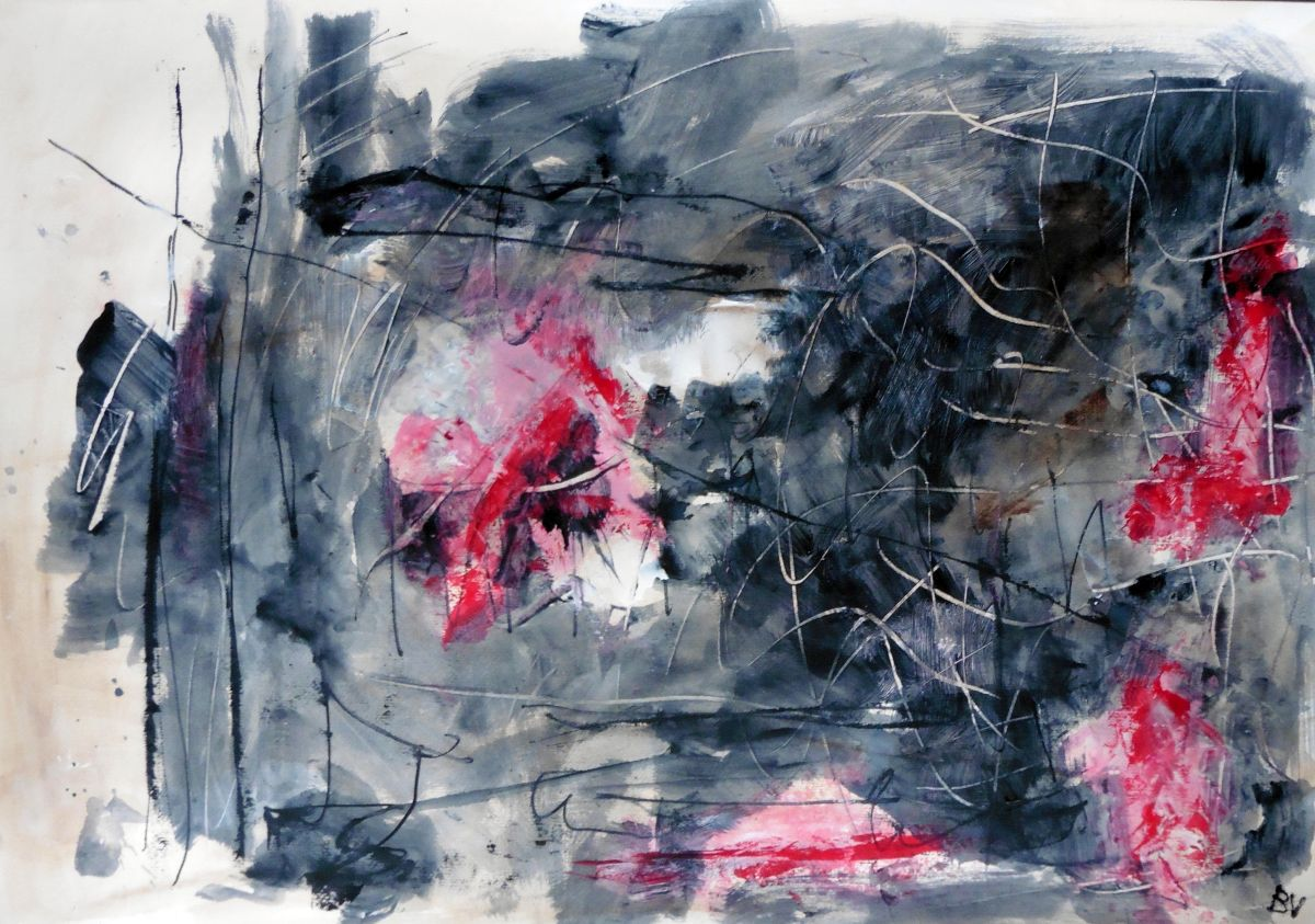 Lyrisch abstract – acryl op papier – 2015