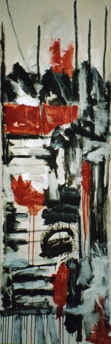 banier 1, Samurai, 2005, 200 x 65 cm