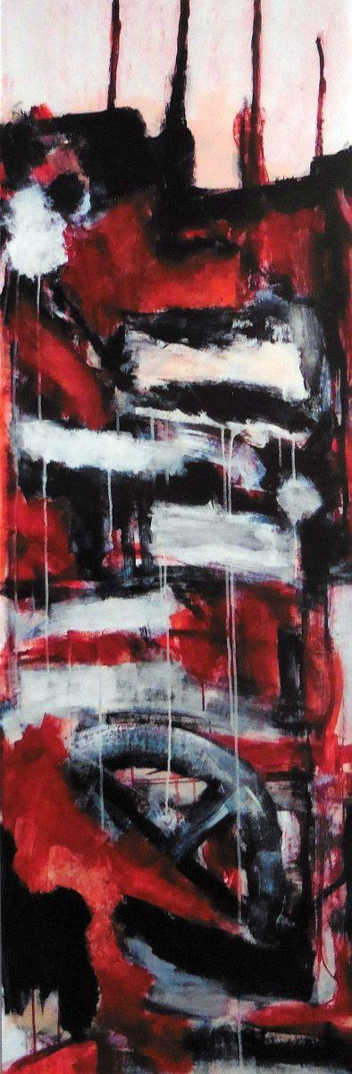 banier 20, Het Offer 3, 2006, 200 x 65 cm