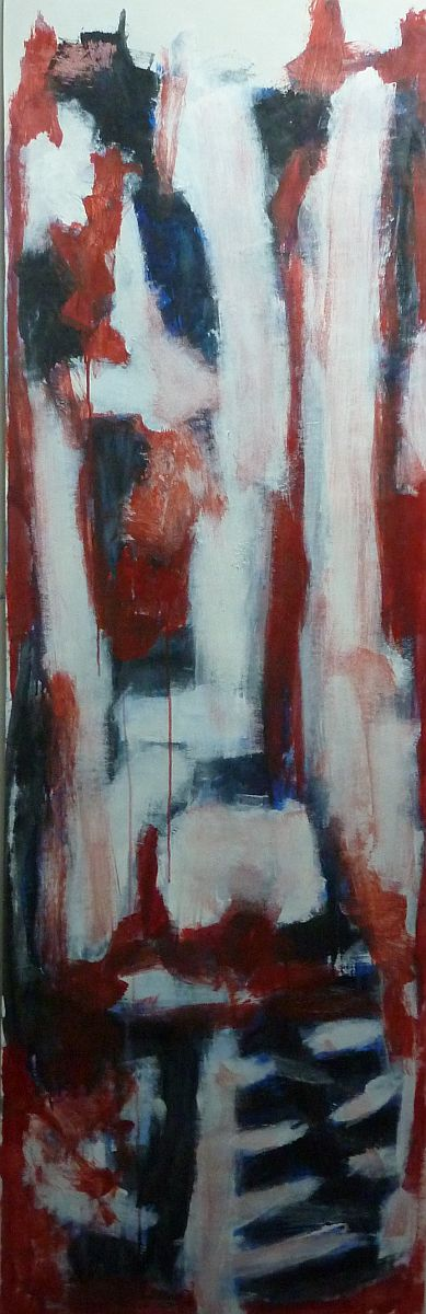 banier 24, Het Offer 6, 2007, 200 x 65 cm