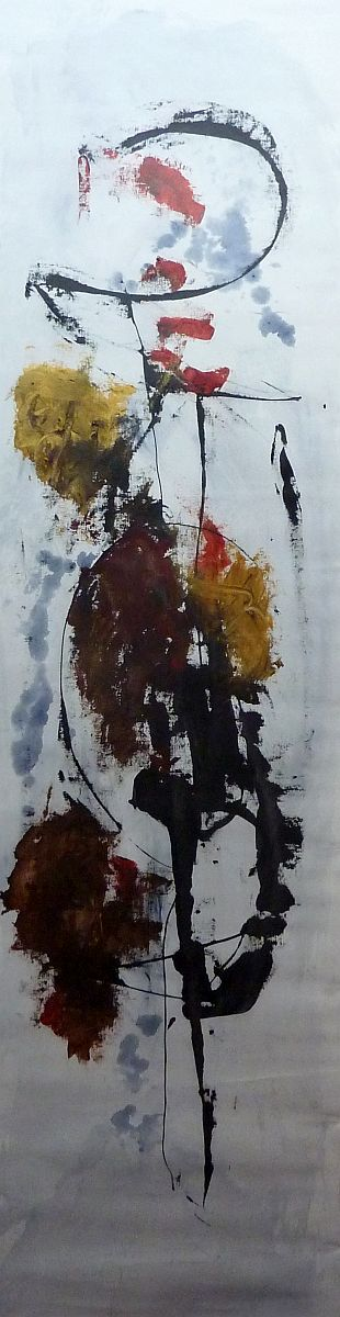 banier 27, Zonnegroet, 2010, 200 x 55 cm