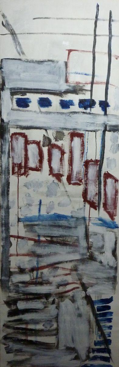 banier 3, Music, 2005, 200 x 65 cm
